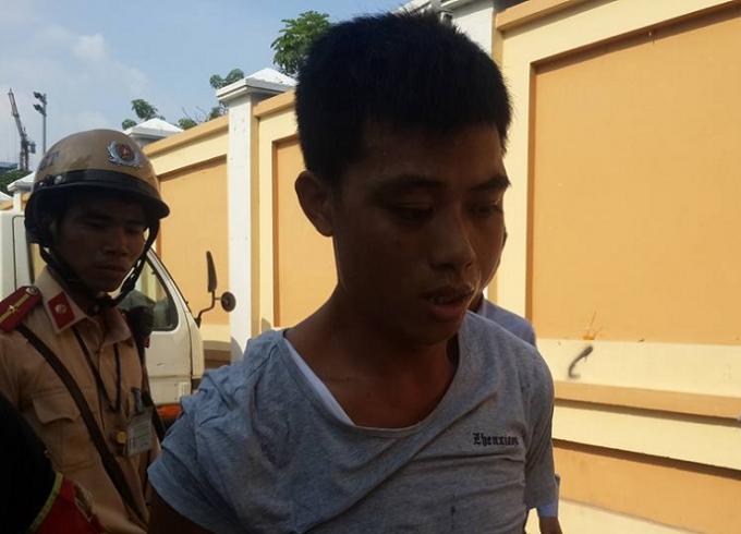 Nguyễn Văn Trung bị lực lượng chức năng bắt giữ.