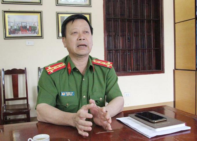 Đại tá Hà Minh Tân thông tin về công tác đảm bảo an ninh trật tự tại Lễ hội Đến Hùng.