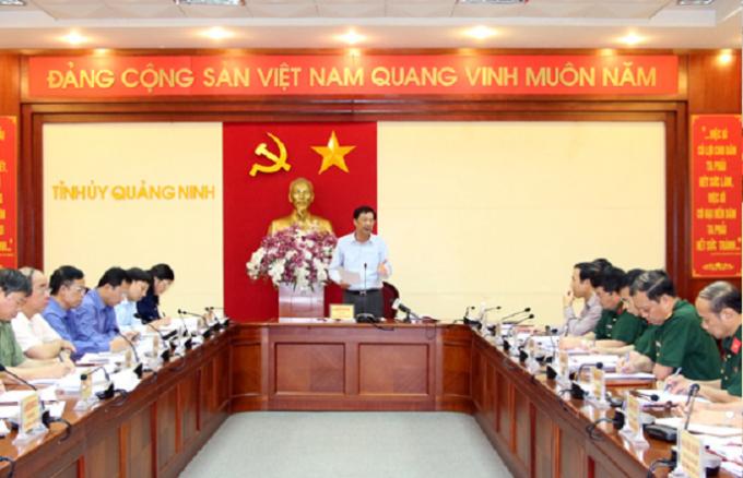 Ông Nguyễn Văn Đọc đưa ra các chỉ đạo trong buổi làm việc với Tổng Công ty Đông Bắc về tình hình sản xuất kinh doanh và quản lý ranh giới mỏ, bảo vệ tài nguyên than trên địa bàn thị xã Đông Triều.