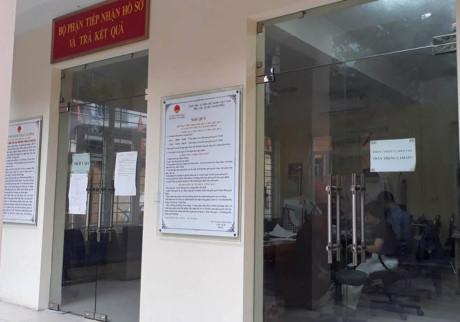 Trụ sở phường Văn Miếu nơi diễn ra sự việc cán bộ