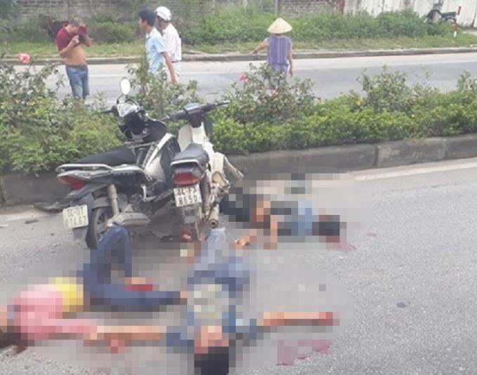Một vu tai nạn nghiêm trọng xảy ra trên địa bàn thị xã Quảng Yên, tỉnh Quảng Ninh.