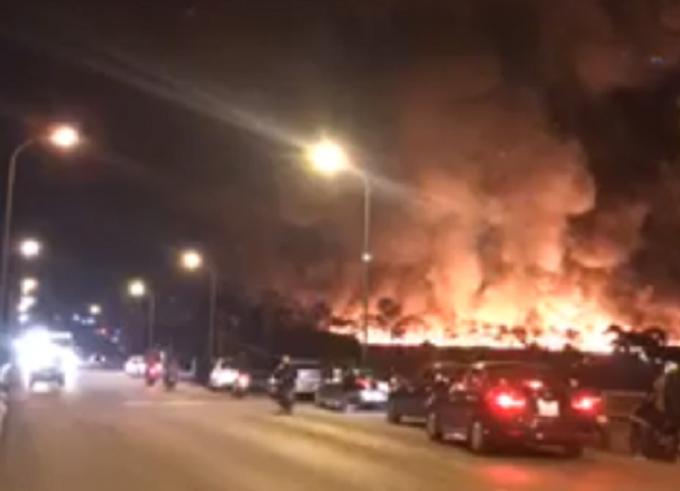 Khu vực nơi xảy ra vụ hỏa hoạn.