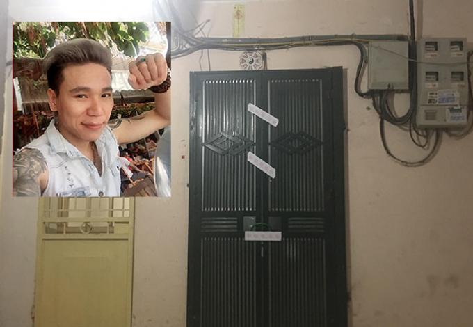 Châu Việt Cường (ảnh nhỏ) và ngôi nhà nơi xảy ra vụ việc (ảnh lớn).