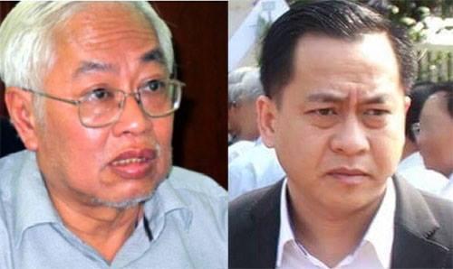 Bị can Phan Văn Anh Vũ (phải) và Trần Phương Bình.