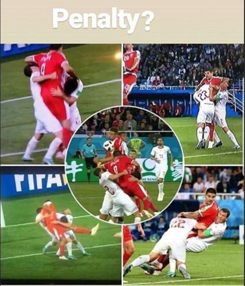 """Đây là pha bóng mà LĐBĐ Serbia cáo buộc FIFA đã """"ăn cướp"""" khi không sử dụng VAR:ảnhCHỤP MÀN HÌNH."""