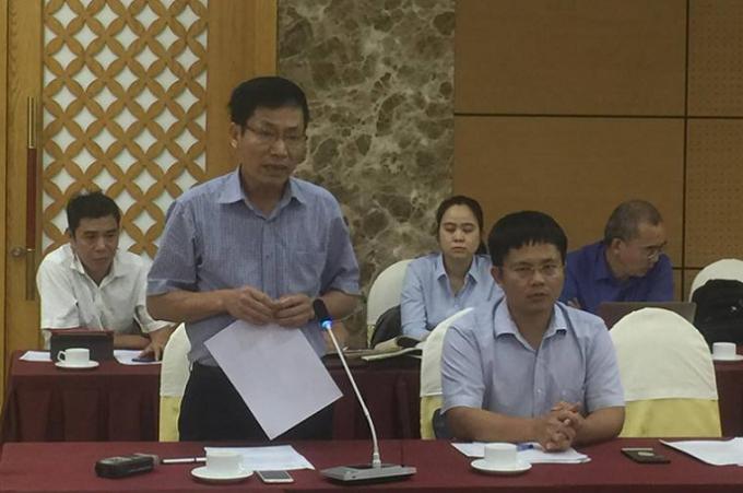 ÔngNguyễn Tiến Hưng- Phó giám đốc Sở Y tế Quảng Ninh thông tin về sự việc.