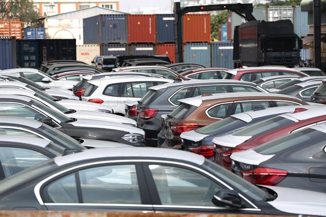 Số xe đã được khui container - tang vật vụ án - còn lưu giữ tại cảng. ảnhNGỌC DƯƠNG