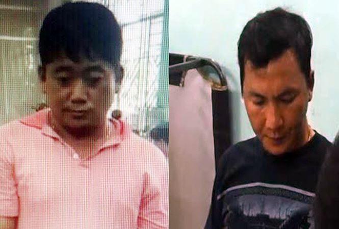Trần Xuân Dũng (trái sang) được tòa cho đi giám định tâm thần. Ảnh: CA