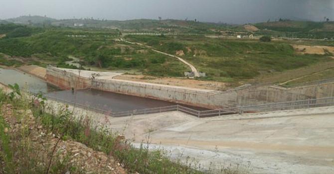 Một góc trong dự án Hồ thủy lợi Krông Pắk Thương.