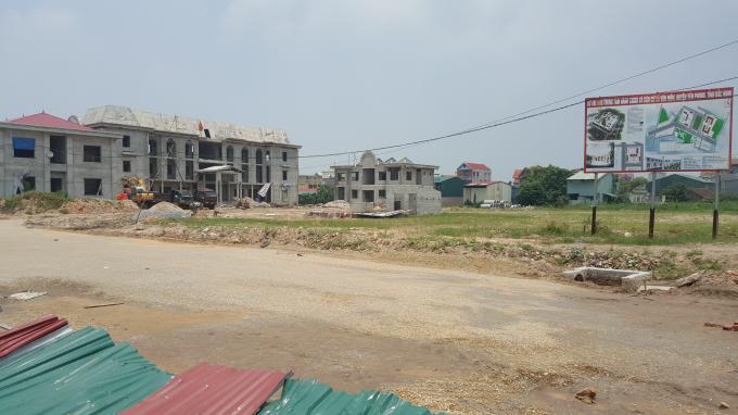 Các công trình thuộc dự án đang được hoàn thành trên diện tích đất rộng hàng nghìn mét vuông.
