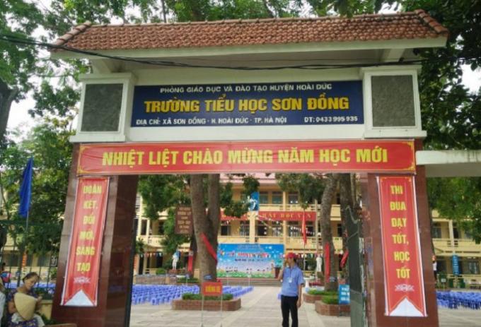Trường Tiểu học Sơn Đồng nơi xảy ra sự việc.