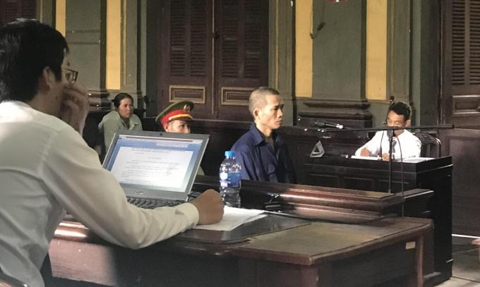 Bị cáo Nguyễn Thọ tại tòa.