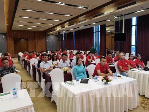"""Chương trình """"Đại hội trao đổi kinh nghiệm hướng dẫn Liên minh miền Bắc mùa thu năm 2018"""" có sự tham gia của người nước ngoài đã diễn ra trái phép tại Móng Cái, Quảng Ninh. Ảnh: TTXVN"""