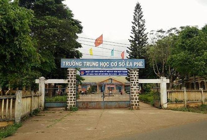 Trường THCS Ea Phê, nơi ông Phan Xuân Hạnh công tác.