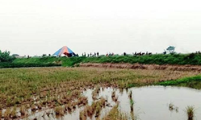 Khu vực phát hiện thi thể nạn nhân là một nữ chủ quán cắt tóc trên địa bàn huyện Tiên Lãng.