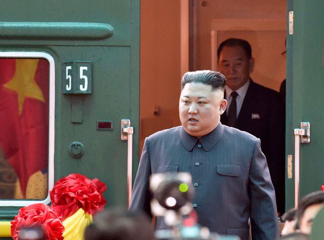 Nhà lãnh đạo Kim Jong-un tới Việt Nam bằng tàu hỏa. (Ảnh: Reuters).