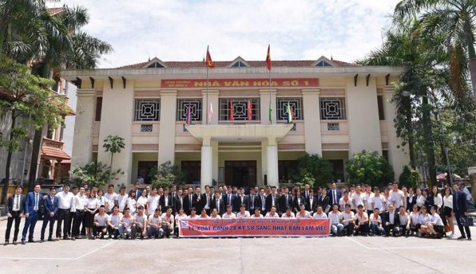 Lễ xuất cảnh 28 kỹ sư của Công ty cổ phần hợp tác quốc tế MIYATA sang Nhật Bản làm việc.