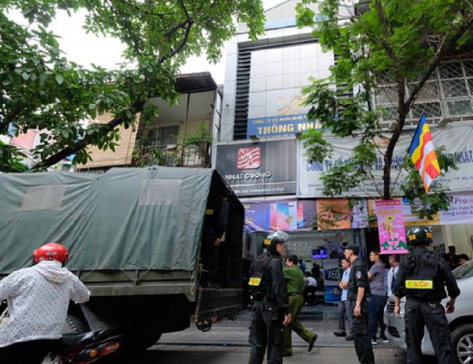 Lực lượng chức năng Bộ Công an thu giữ nhiều tang vật liên quan đến vụ án.