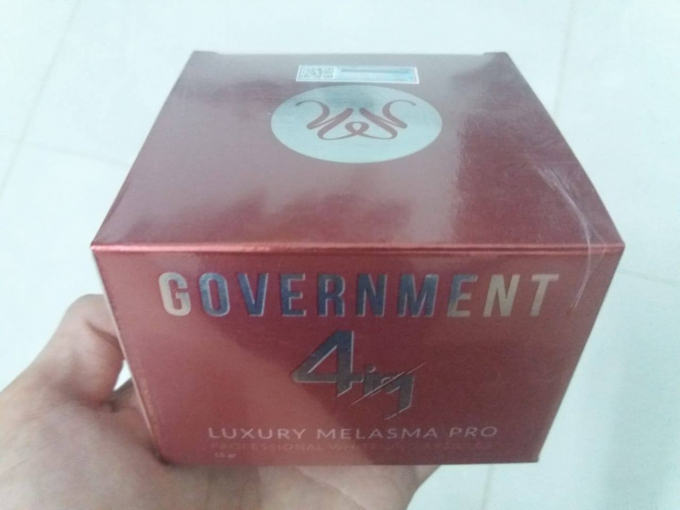 Sản phẩm kem dưỡng trắng – trị nám tàn nhang đồi mồi – tái tạo da Government 4in1 của Công ty Như Minh Tú.