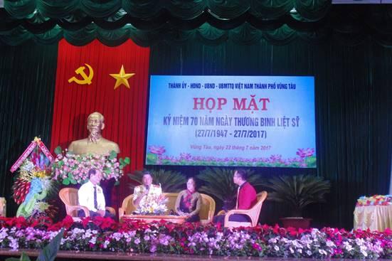 TP Vũng Tàu tổ chức họp mặt kỷ niệm70 năm ngày Thương binh - Liệt sĩ.