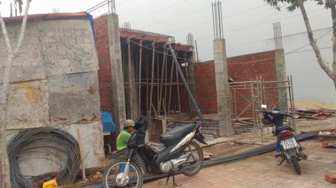 Công trình đang tiếp tục xây cất ghi nhận vào ngày 21/7.