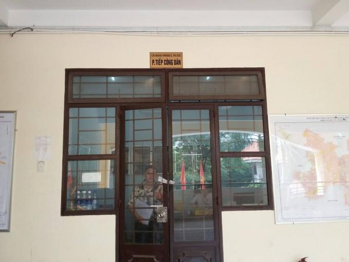 Phòng tiếp công dân Chi nhánh văn phòng đăng ký đất đai quận Thủ Đức.