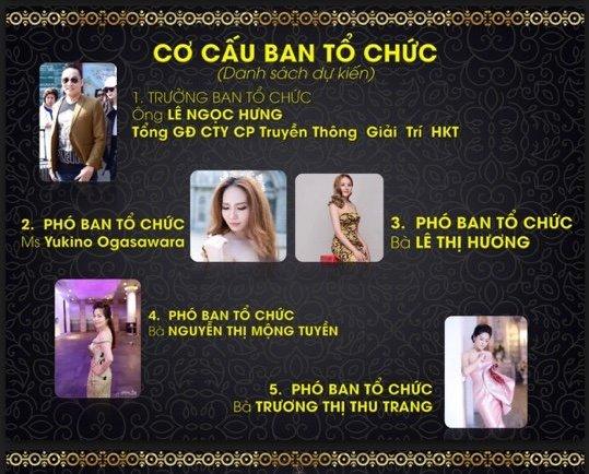 Cơ cấu ban tổ chức cuộc thi dự kiến có ông Lê Ngọc Hưng làm trưởng ban.