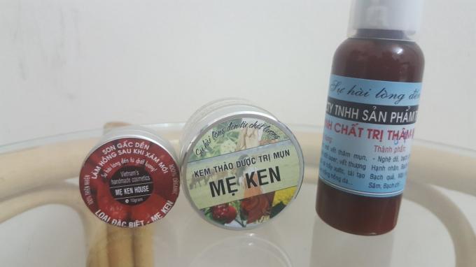 Một số sản phẩm thương hiệu Mẹ Ken.