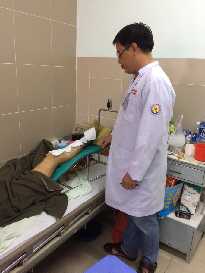 Bệnh nhân sau 2 ngày mổ đã hồi phục tốt.