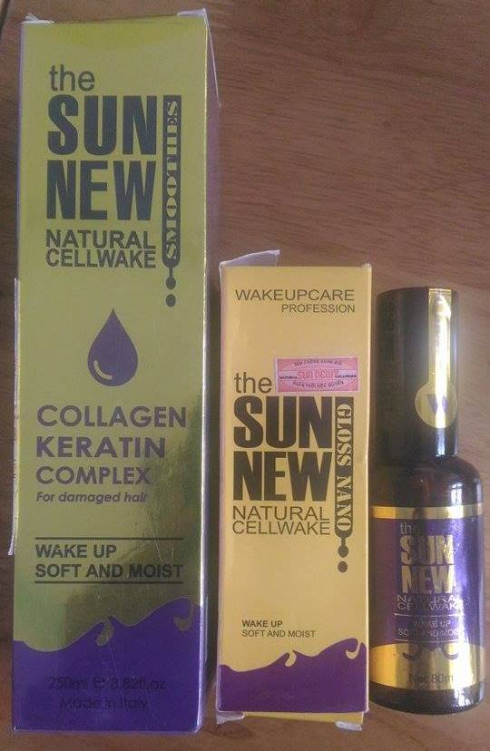 Những sản phẩm mỹ phẩm hiệu The Sunnew được làm giả hàng loạt, bán ra thị trường.