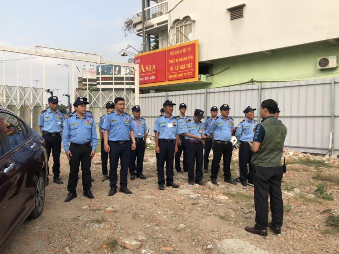 Lực lượng bảo vệ đảm bảo an ninh trật tự tại dự án