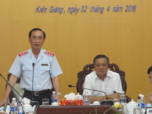 Phó Tổng thanh tra Chính phủ Đặng Công Huẩn chủ trì buổi công bố quyết định thanh tra (Ảnh: TTCP)