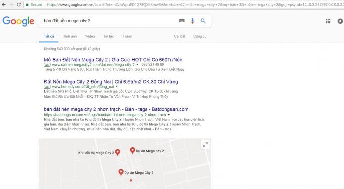 Dự án Mega City 2 được rao bán rầm rộ trên internet.