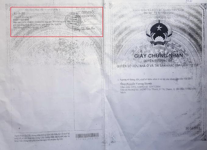 Việc chuyển nhượng sau được xác nhận của Chi nhánh văn phòng Đăng ký đất đai huyện Bình Chánh.