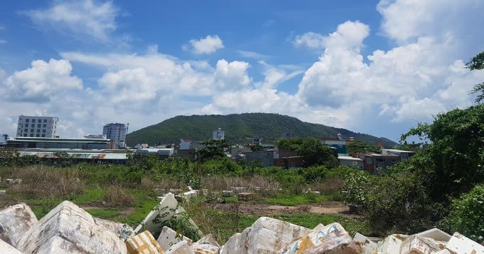 Hiện trạng khu đất bị thu hồi, trong đó có đất bà Hương đang yêu cầu thi hành án.