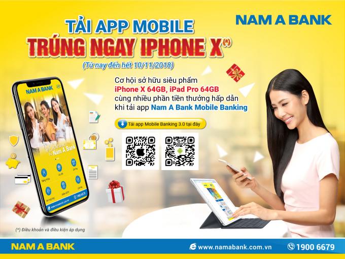 Nam A Bank đã tìm ra chủ nhân Iphone X và iPad đầu tiên