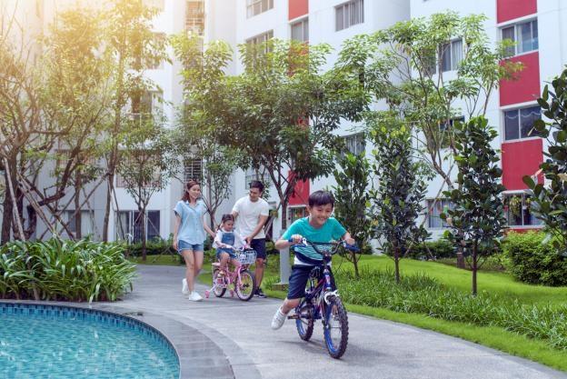 Celadon City được thiết kế các làn đường nội khu dành riêng cho xe hơi, xe đạp hay đi bộ.