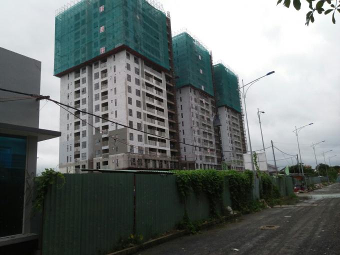 Nhiều dự án xây dựng chung cư gần khu đất tranh chấp.