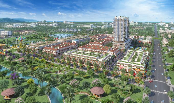 Tổng thể dự án Barya Citi, dự án do Công ty Bất động sản Danh Khôi làm chủ đầu tư.
