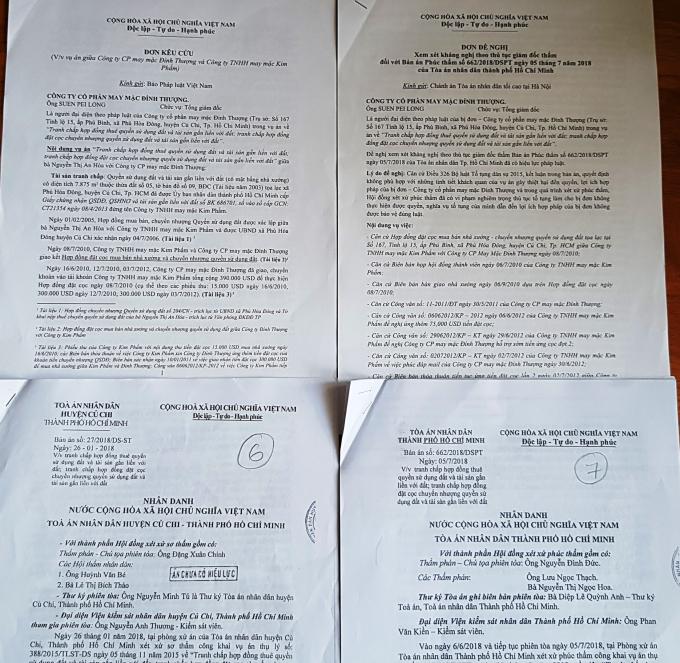 Đơn kêu cứu gửi báo chí và hồ sơ vụ án.