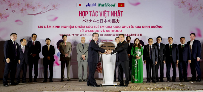 Hợp tác giữa NutiFood và Asahi Group Foods.