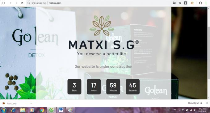 Trang web Công tyTNHH Mat Xi S.G.