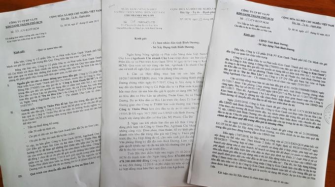 Văn bản Công ty Kim Oanh gửi báo chí và các cơ quan chức năng.