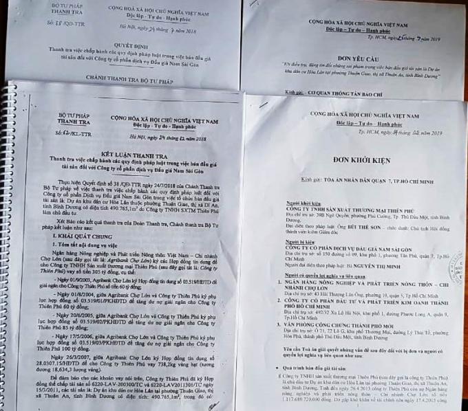 Kết luận Thanh tra và hồ sơ vụ việc.
