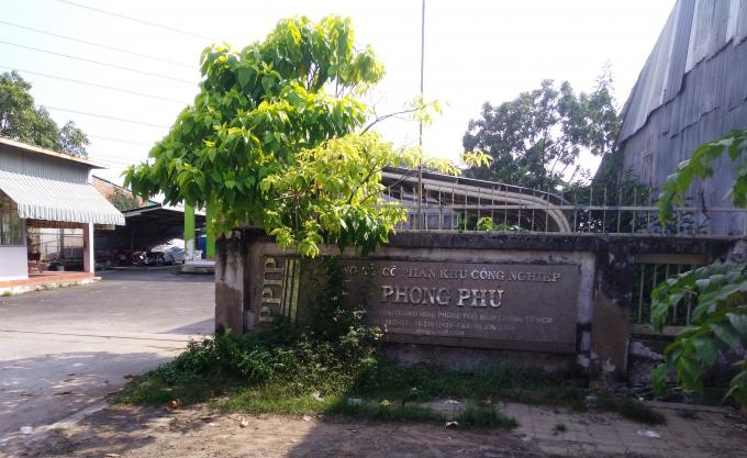 Dự án Khu công nghiệp Phong Phúthuộc xã Phong Phú, huyện Bình Chánh, TP HCM.
