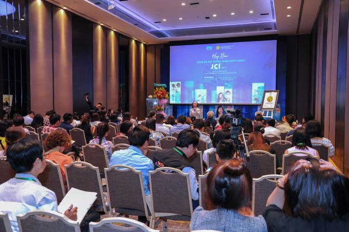 Toàn cảnh họp báo bệnh viện FV công bố đạt chứng nhận chất lượng JCI lần 2 diễn ra ngày 6/3, tại khách sạn Sheraton Sài Gòn.