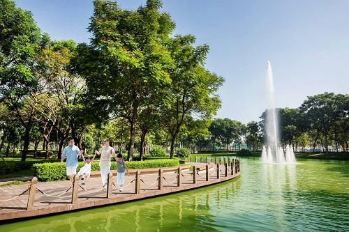 Lối đi xanh dành cho cư dân Celadon Citytạo không gian sống xanh, bảo vệ sức khỏe người dân