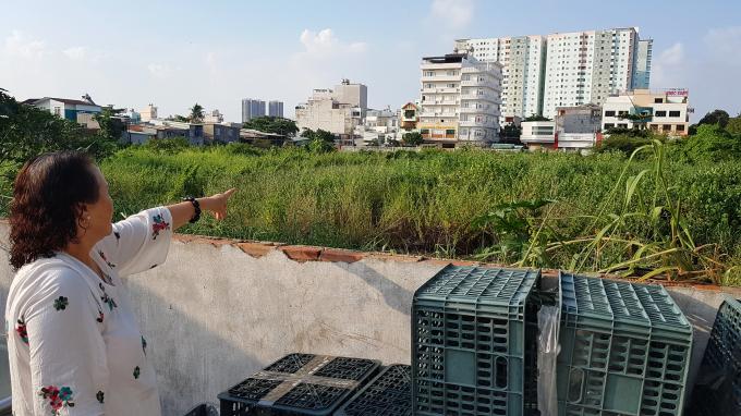 Phần đất bà Hương đang khiếu nại.