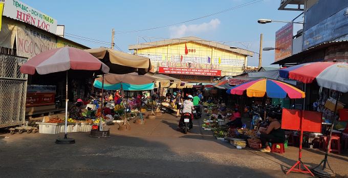 Phần đất bà Hương đối diện chợ Vũng Tàu.