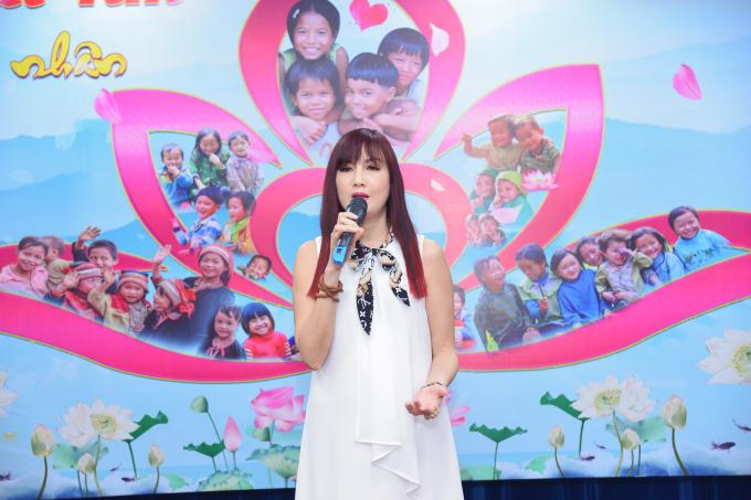 Diễn viên Hiền Mai bày tỏ niềm vui khi góp phần nào đó vào Chung một trái tim, một chương trình có ý nghĩa vô cùng thiết thực.